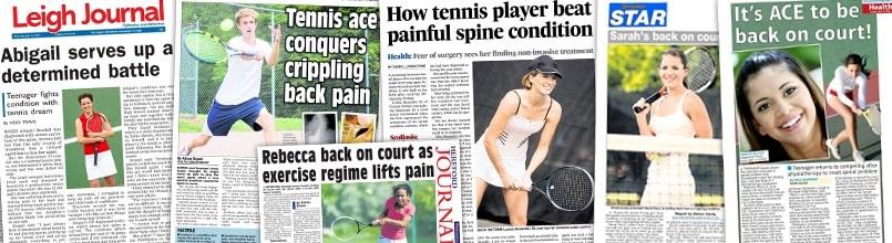 Scoliosis tennis stories