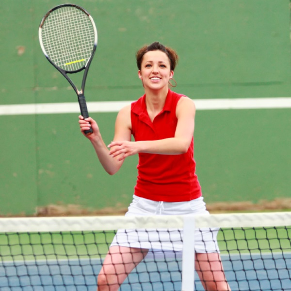 Scoliosis SOS patient Abigail playing tennis