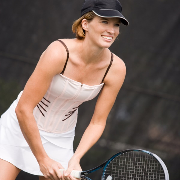 Louise Alexander with tennis racket
