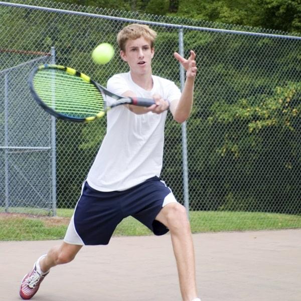 James Taylor playing tennis