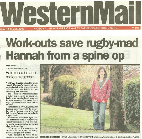 Rugby player Hannah