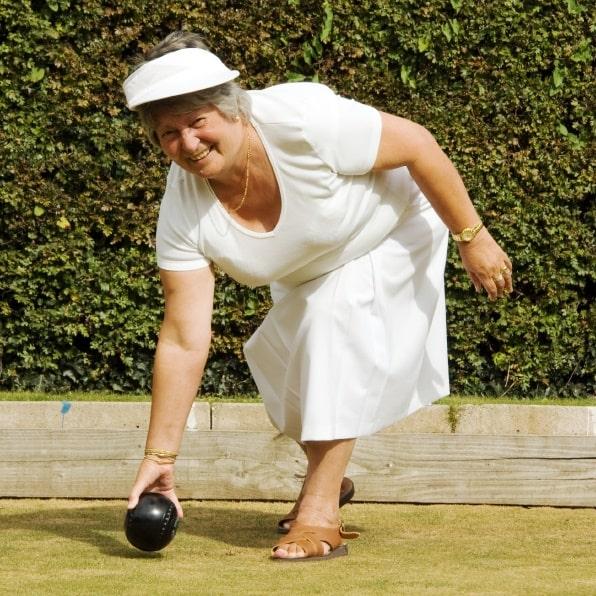 Gloria on the bowling green