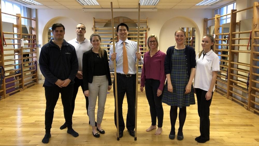 Darren Lui with Scoliosis SOS team